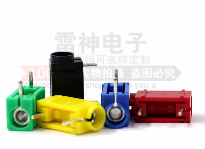 帶針焊接PCB線路板焊板香蕉插座4mm測試插頭大電流banana面板插座 L40