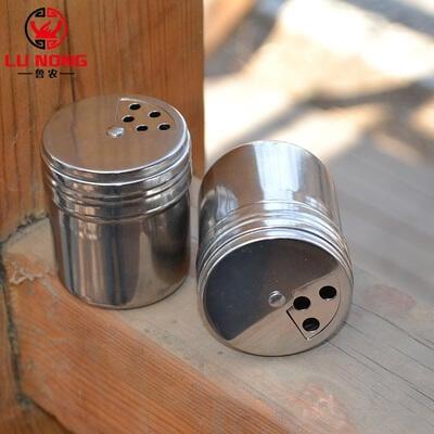 燒烤工具不銹鋼燒烤調料罐調料盒鹽罐胡椒粉罐3料口旋轉調料筒