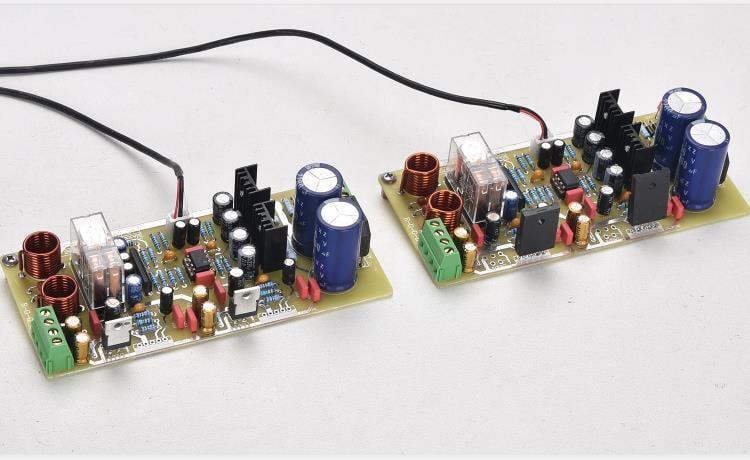 參考天龍電路的SK18752發燒功放板 帶運放前級且兼容LM1875芯片