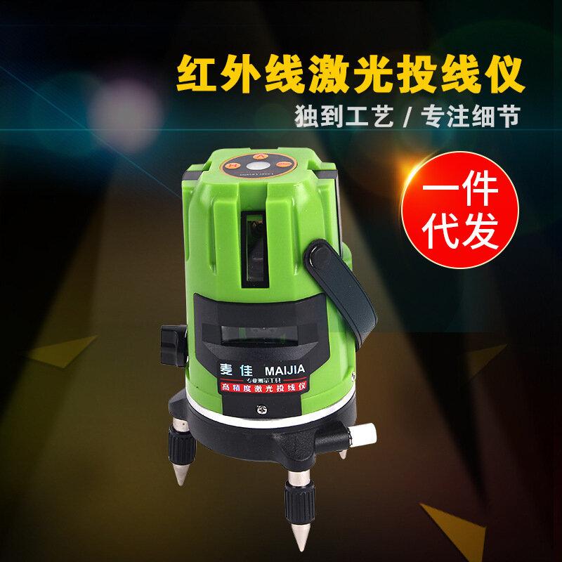 廠家供應2/3/5/12線激光水平儀 綠光強光水平儀 投線 貼墻貼地儀
