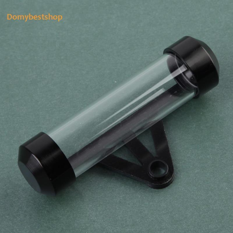 Domybestshop 黑色防水摩托車摩托車管稅盤圓柱形支架